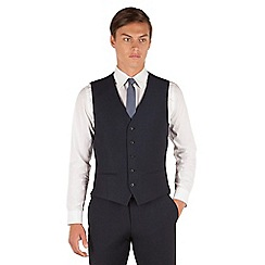 Red Herring - Navy micro design slim fit 5 button waistcoat