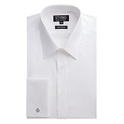 Stvdio by Jeff Banks - White Leaf Jacquard Shirt