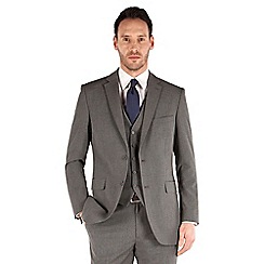 Thomas Nash - Grey semi plain 2 button regular fit suit jacket