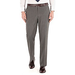 Thomas Nash - Grey semi plain regular fit suit trouser