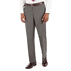Thomas Nash - Grey semi plain tailored fit suit trouser