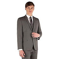 Thomas Nash - Grey semi plain 2 button slim fit suit jacket