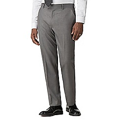 Occasions - Grey plain weave regular fit 2 button trouser
