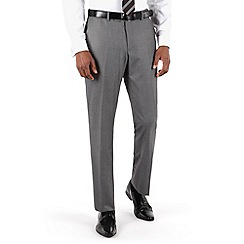 Occasions - Grey plain weave tailored fit suit trouser