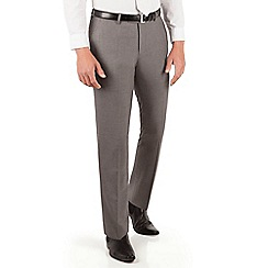 Occasions - Occasions Grey plain weave slim fit trouser