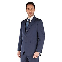 Occasions - Blue plain regular fit 2 button suit