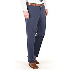 Occasions - Blue plain regular fit 2 button trouser