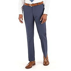 Occasions - Blue plain weave tailored fit trouser
