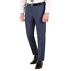 Occasions - Blue plain slim fit 2 button trouser