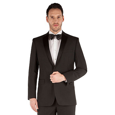 Occasions - Black twill regular fit 1 button dresswear suit