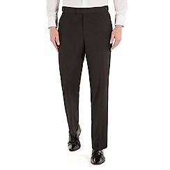 Occasions - Black twill regular fit dresswear trouser