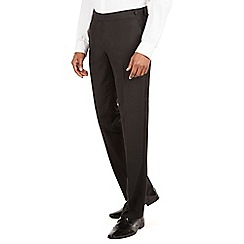 Occasions - Occasions Black plain weave dresswear tailored fit suit trouser