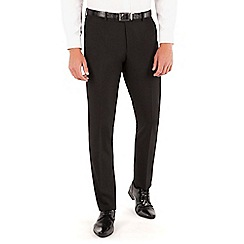 Occasions - Occasions Black plain weave dresswear slim fit suit trouser