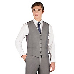 Red Herring - Silver grey tonic 5 button slim fit suit waistcoat