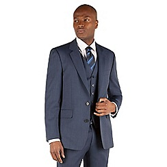 Hammond & Co. by Patrick Grant - Light blue plain 2 button front st james tailored fit suit jacket