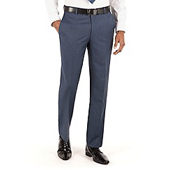 Hammond & Co. by Patrick Grant - Light blue plain flat front tailored fit st james suit trouser