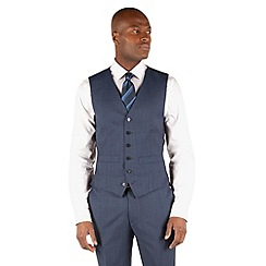 Hammond & Co. by Patrick Grant - Light blue plain 6 button front tailored fit st james suit waistcoat