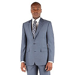 Hammond & Co. by Patrick Grant - Light blue plain buggy lined st james suit jacket