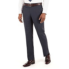 Hammond & Co. by Patrick Grant - Blue check flat front tailored fit st james suit trouser