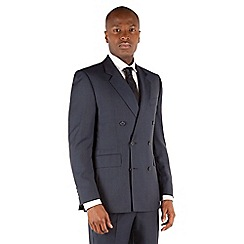 Hammond & Co. by Patrick Grant - Blue check double breasted front tailored fit st james suit jacket