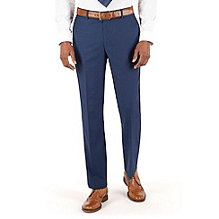 Hammond & Co. by Patrick Grant - Blue herringbone flat front tailored fit st james suit trouser