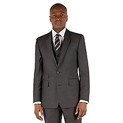 Hammond & Co. by Patrick Grant - Grey pindot 2 button front tailored fit st james suit