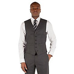 Hammond & Co. by Patrick Grant - Grey pindot 6 button front tailored fit st james suit waistcoat