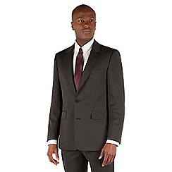 Hammond & Co. by Patrick Grant - Grey narrow stripe 2 button front tailored fit st james suit