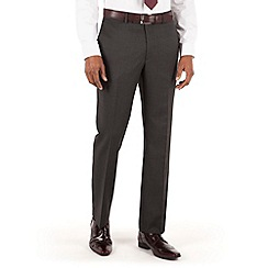 Hammond & Co. by Patrick Grant - Grey narrow stripe flat front tailored fit st james suit trouser