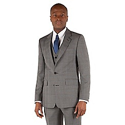 Hammond & Co. by Patrick Grant - Grey check 2 button front tailored fit st james suit jacket