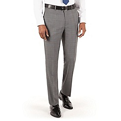 Hammond & Co. by Patrick Grant - Grey check flat front tailored fit st james suit trouser