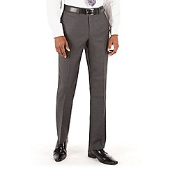 Hammond & Co. by Patrick Grant - Grey herringbone flat front tailored fit st james suit trouser