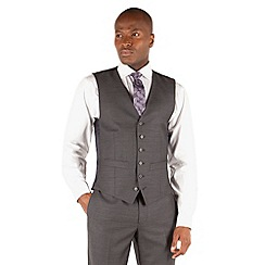 Hammond & Co. by Patrick Grant - Grey herringbone 6 button front st james suit waistcoat
