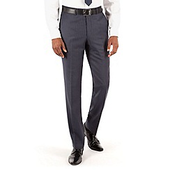 Hammond & Co. by Patrick Grant - Blue grey stripe plain front suit trouser