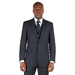 Hammond & Co. by Patrick Grant - Blue birdseye 2 button front tailored fit savile row suit jacket