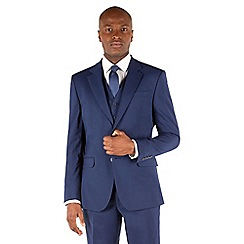 Stvdio by Jeff Banks - Blue plain 2 button front ivy league tailored fit suit jacket