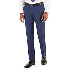 Stvdio by Jeff Banks - Blue plain flat front ivy league suit trouser