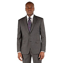 Stvdio by Jeff Banks - Charcoal pindot 2 button front ivy league suit jacket