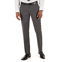 Stvdio by Jeff Banks - Charcoal pindot plain front ivy league suit trouser
