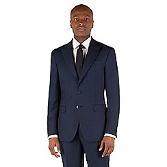 Stvdio by Jeff Banks - Navy textured 2 button front ivy league suit jacket