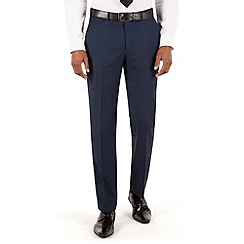 Stvdio by Jeff Banks - Navy textured flat front ivy league suit trouser