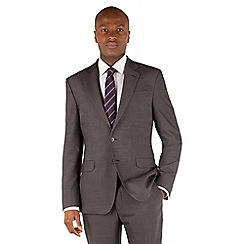 Stvdio by Jeff Banks - Grey plain 2 button front ivy league suit jacket