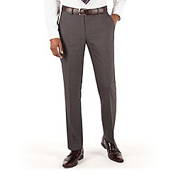 Stvdio by Jeff Banks - Grey plain flat front ivy league suit trouser