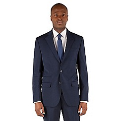 Stvdio by Jeff Banks - Blue puppytooth 2 button front tailored fit suit jacket