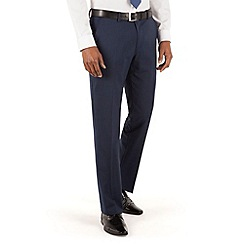 Stvdio by Jeff Banks - Blue puppytooth flat front tailored fit suit trouser