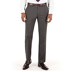 Stvdio by Jeff Banks - Grey nailhead flat front tailored fit suit trouser