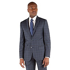 Stvdio by Jeff Banks - Blue check 2 button tailored fit suit