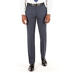 Stvdio by Jeff Banks - Blue check plain front tailored fit suit trouser