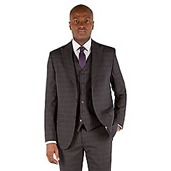 Stvdio by Jeff Banks - Charcoal check 2 button front tailored fit suit jacket