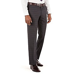 Stvdio by Jeff Banks - Charcoal check flat front tailored fit suit trouser
